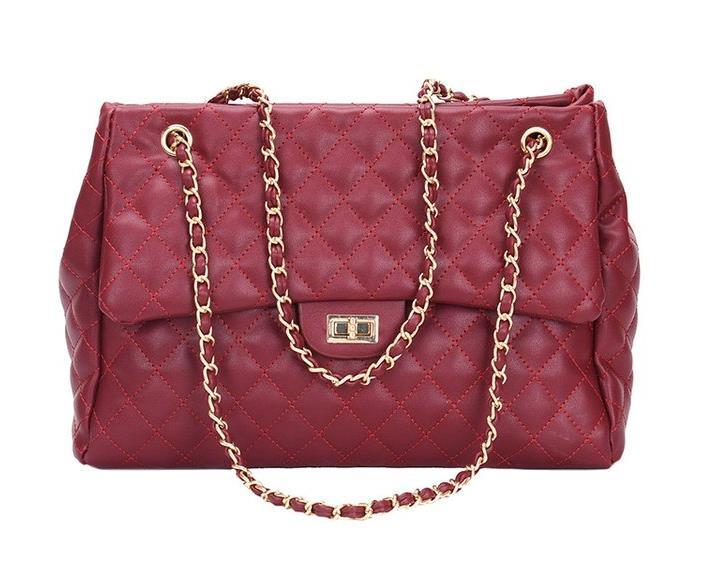 New Design Women Handbag PU Leather Lady Shoulder Bag with Chain