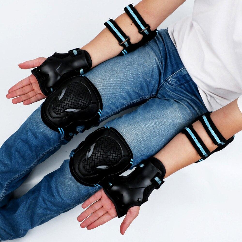 Наколенники для подростков и взрослых, защитное снаряжение, налокотники, защитное снаряжение для катания на роликах, скейтбординга, 6 шт./ко...