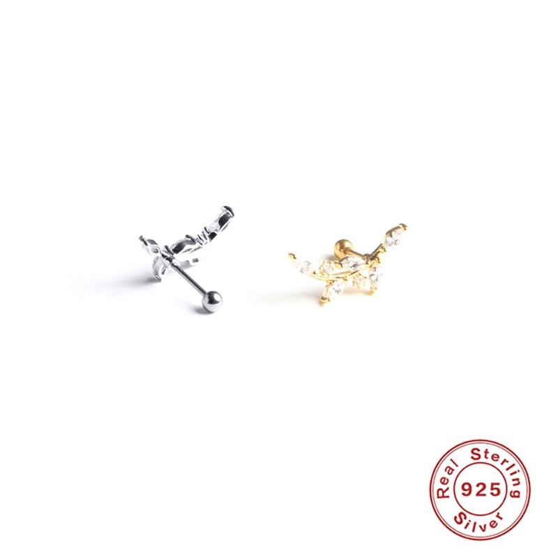 Помощник-в-минималистском-стиле-925-стерлингового-серебра-с-милой-с-блестящими-бесцветными-кристаллами-циркона-нерегулярные-листьев-оливы