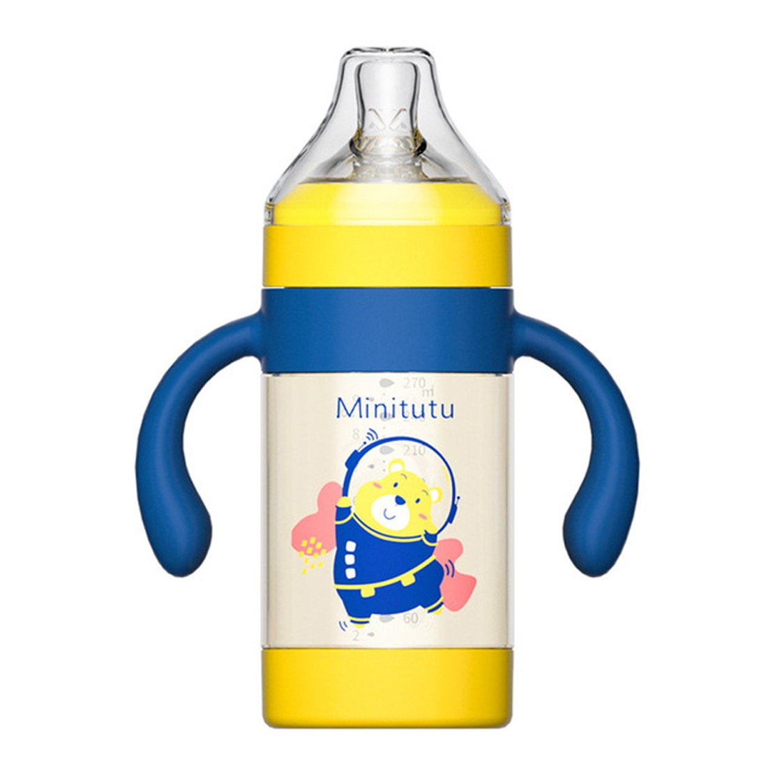 Baby bottle PPSU anti-fall and anti-colic 300ml large capacity one and a half year old polypropylene, silicone
