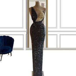 Sequined Black платья на выпускной 2021 elegant dress women for wedding party vestidos de promoción vestidos de graduación