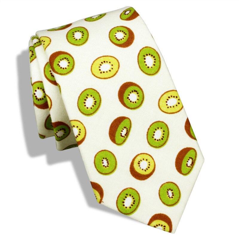 Мужские узкие галстуки HAWSON, узкие галстуки с принтом киви и фруктов в подарочной коробке