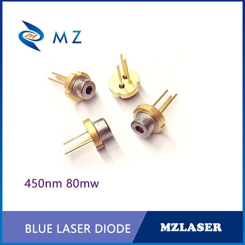 Diodo láser Industrial IR, 450nm 80mw TO-18 envases