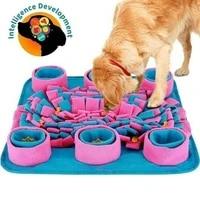 pet dog snuffle mat sniffing pad interactive iq foraging skills training food dispenser stress feeding mats slow feeder toys