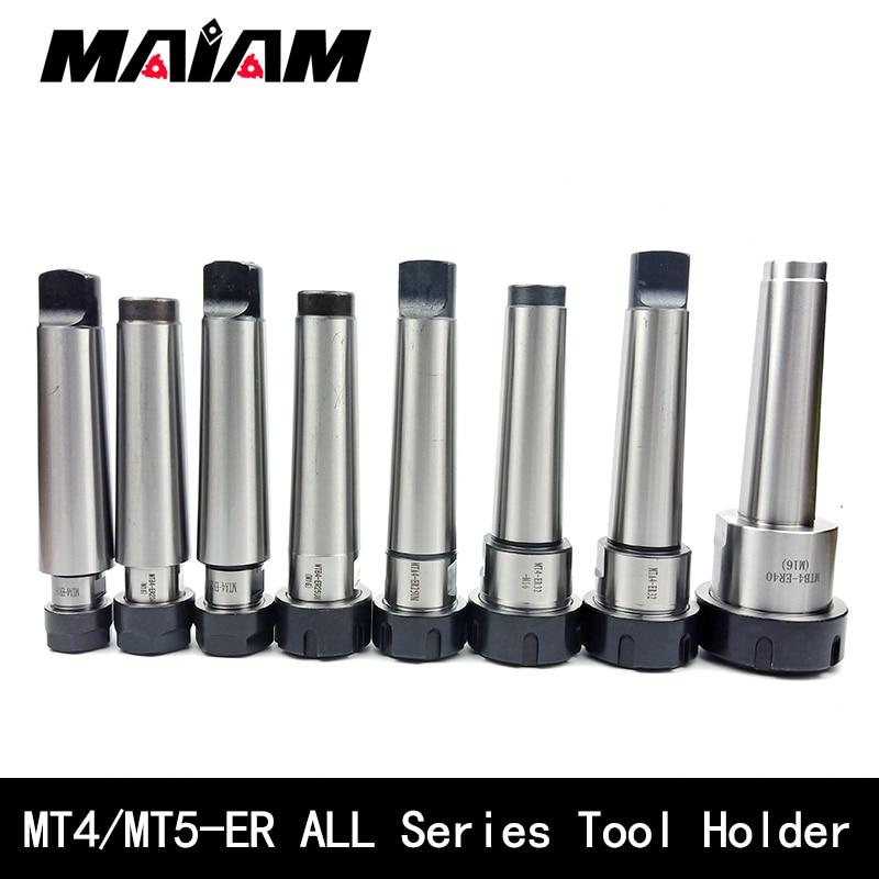 mt4 mt5 tool holder mta4 mtb4 er16 er20 er25 er32 ER40 cnc tool holder rear pull flat tail center tool holder er collet chuck