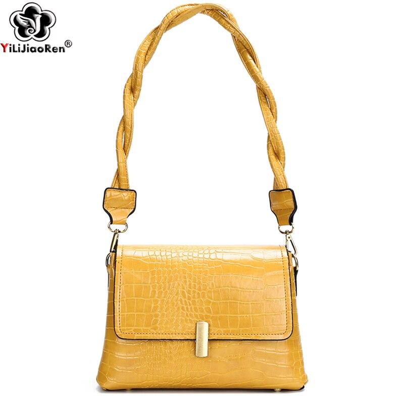 Fashion Crossbody Bags for Women Stone Pattern Shoulder Bags Designer Luxury Ladies Hand Bag Multifunction Handbags Sac A Main