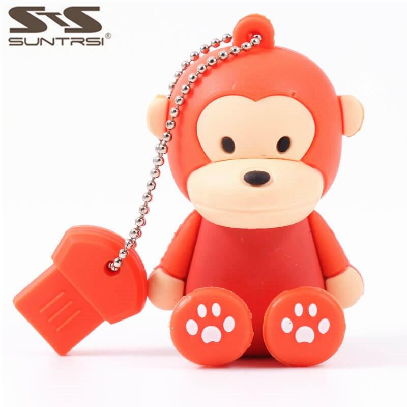 Suntrsi Usb Flash Drive monkey Cartoon 64G 8GB Pen Drive 16GB 32GB Usb Memory Stick gift For PC