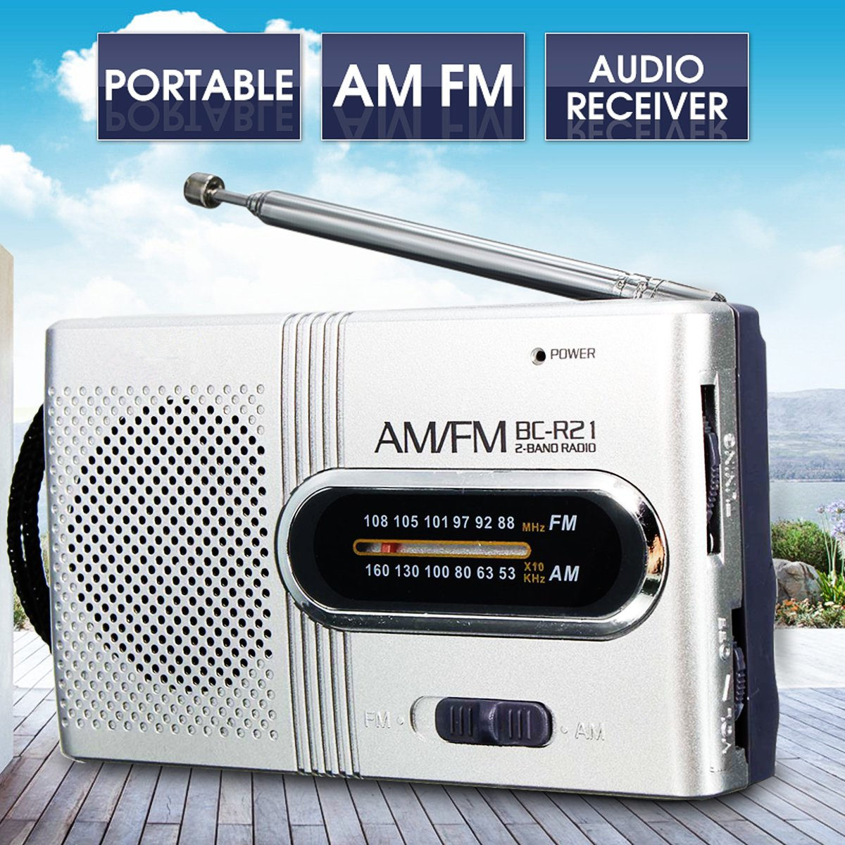 Pequeño portátil AM FM antena telescópica radio mundo receptor altavoz mini Radio FM radio radios