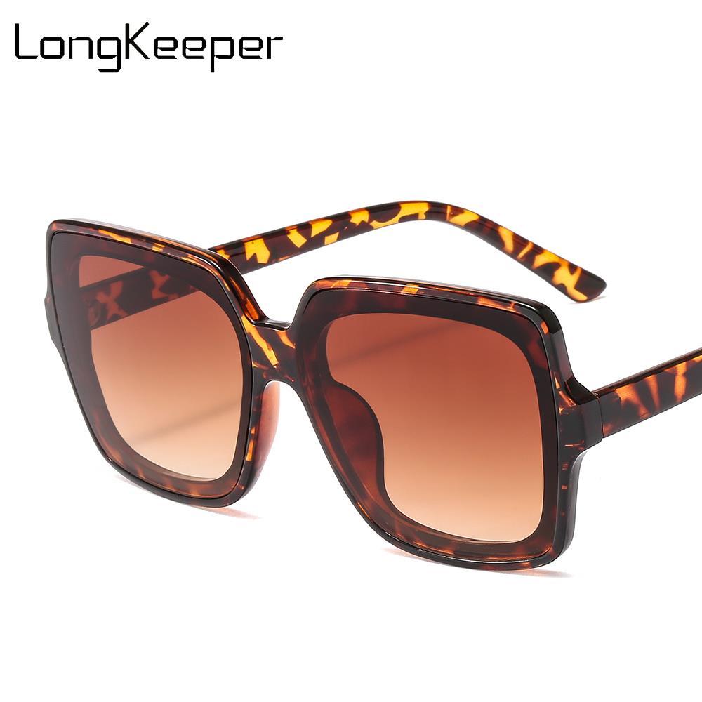 Vintage oversized óculos de sol feminino clássico marca praça gradiente sol glasss na moda feminino máscaras óculos de condução oculos