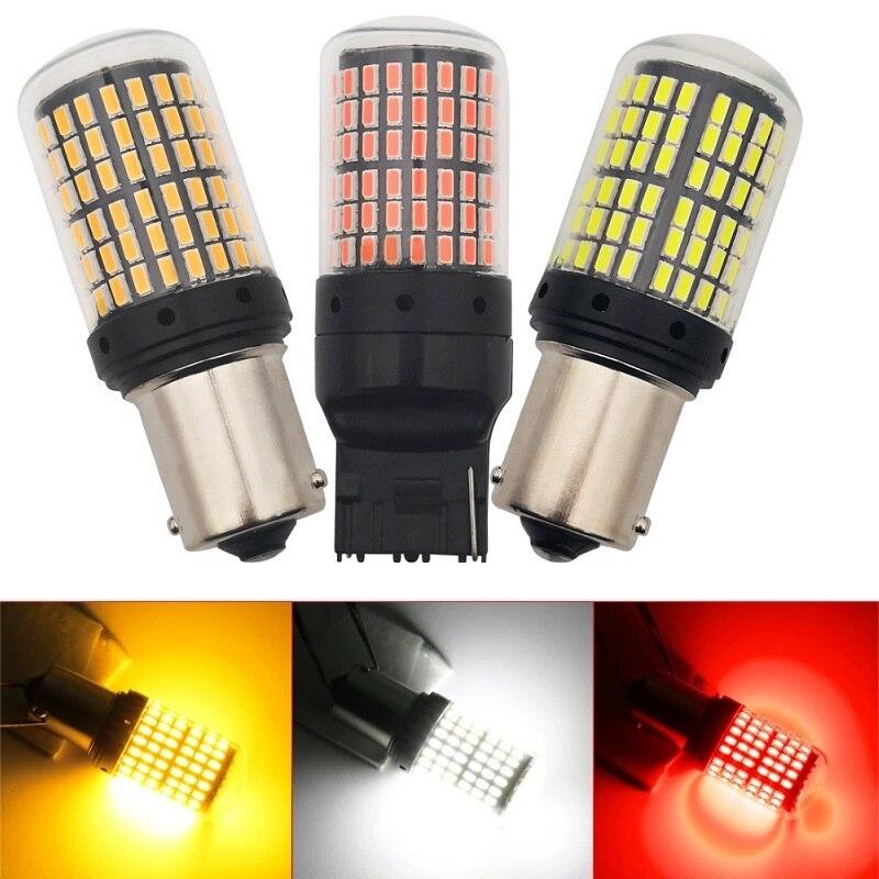 Stücke 3014 144smd Canbus S25 1156 P21W BA15S LED BAY15D BAU15S PY21W T20 LED 7440 7443 W21W 1157 led-lampen für Blinker Licht
