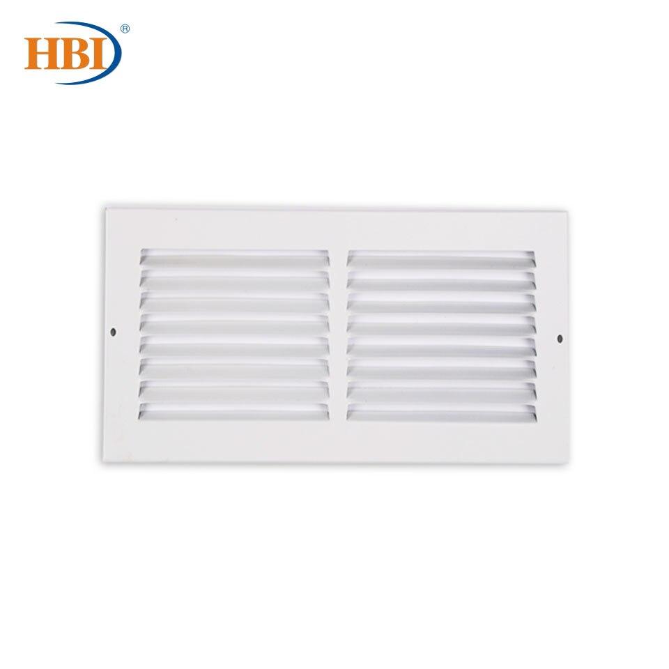 HBI-شبكات فولاذية بيضاء مع تشطيب رجوع ، W14 × H4 بوصة ، شبكة تهوية للسقف