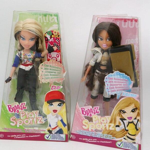 Muñeca Bratz original en caja Play sportz con skateboard dress up muñeca el mejor regalo para niña