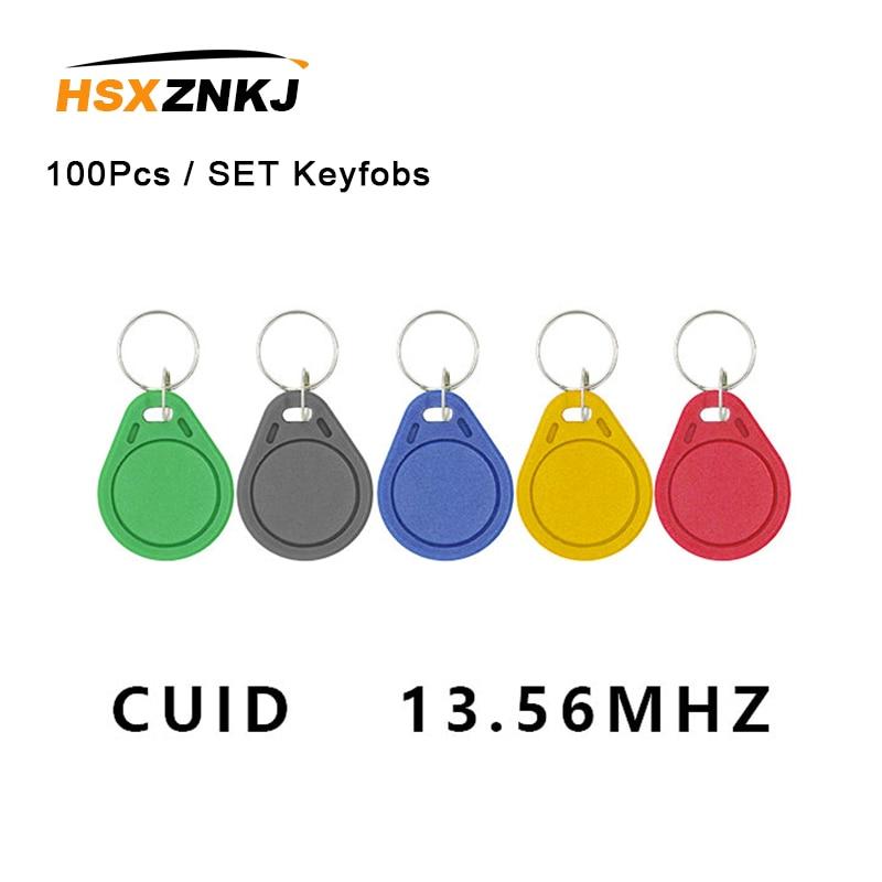 100 uds/lote Keyfobs token label S50 13,5 MHZ CUID changed MF S50 1K IC llaveros NFC réplica copia bloque 0 puede escribir 14443A