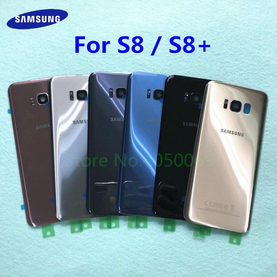Задняя стеклянная задняя крышка корпус батарея замена двери + рамка камеры для Samsung Galaxy S8 Plus S8 + G955 G955F G950 G950F