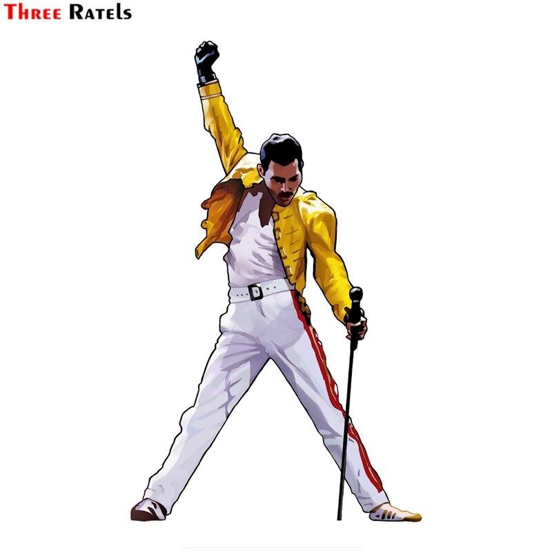 Three ratels FTC-810 #12x18,6 cm Freddie Mercury vinilo adhesivo para ventana de coche etiqueta de la pared de Bohemian Rhapsody reina