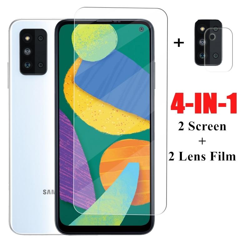 2 шт. стекло для Samsung F52 Защитная пленка для экрана для Samsung Galaxy F52 защитное стекло с полным покрытием для Samsung Galaxy F52