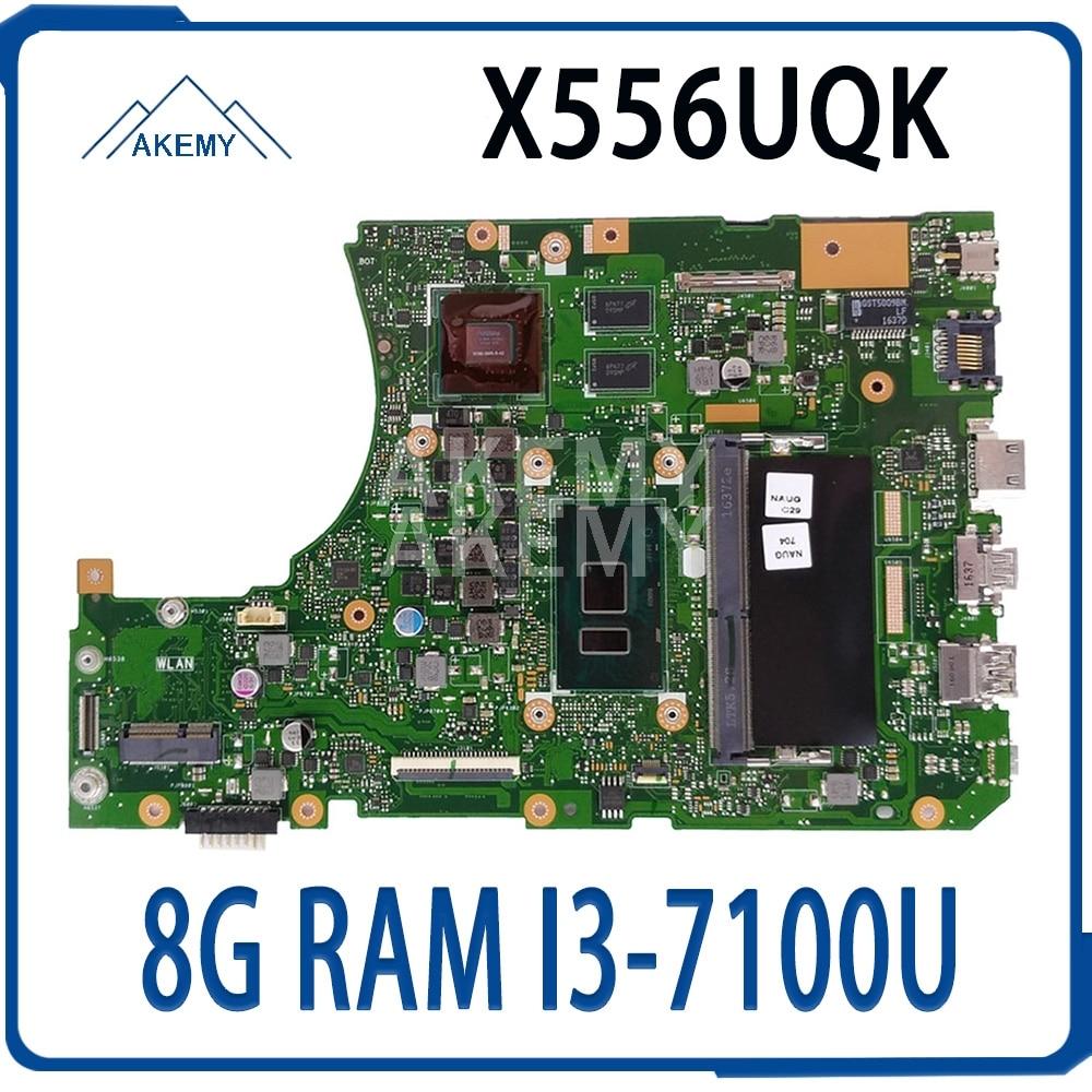 X556UQK 8G / I3-7100U (V2G) DDR4 لآسوس X556UVK X556UV X556URK Mainboard اللوحة الأم 90NB0BH0-R00040