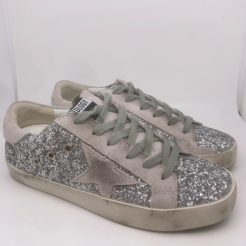 Sucio estrellas zapatos sucios 2021 nuevos zapatos informales coreanos lentejuela plana zapatos...