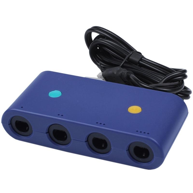 Para gamecube controlador adaptador para nintendo switch wii u pc 4 portas com turbo e botão de casa modo sem motorista
