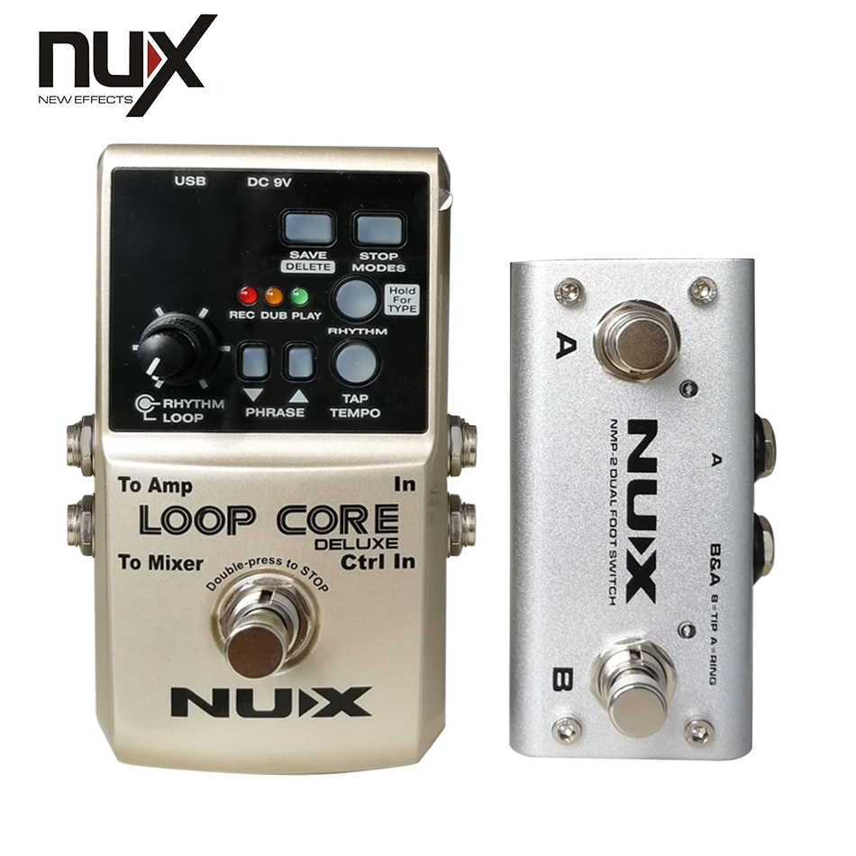 Nux Loop Core Deluxe Guitar Effect Pedal Loop Electric Guitar Parts 8H Built-In 40 Drum True Bypass Musical Instruments enlarge