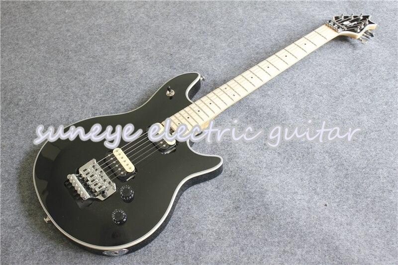 Guitarra Eléctrica Suneye Wolfg con acabado negro brillante, herrajes cromados, Guitarra eléctrica...