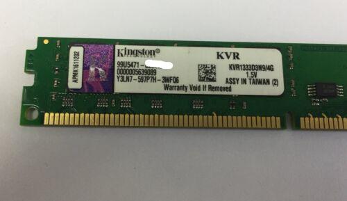 Купить с кэшбэком Kingston 4GB DDR3 1333MHz PC3-10600U Low Profile Desktop RAM PC Memory 240 pin