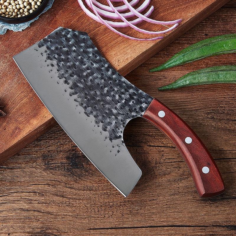 جديد اليدوية مزورة الساطور سكين توفير العمالة منزل المطبخ تقطيع سكين مطرقة نمط الفولاذ المقاوم للصدأ اكسسوارات الطبخ