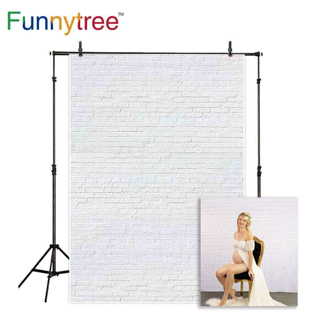 Funnytree-fondo fotográfico de ladrillo blanco para estudio fotográfico, telón de fondo para...