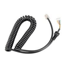 Cable de micrófono Cable de alambre para Yaesu MH-48A6J MH-42B6J micrófono para FT-7800 FT-8800 FT-8900 FT-8900R Radio de coche MH-42 MH-48 altavoz