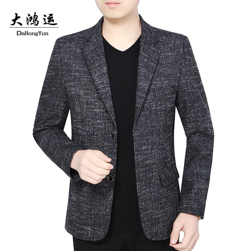 Spring and autumn new men's coat thin suit young men's leisure suit slim coat single suit