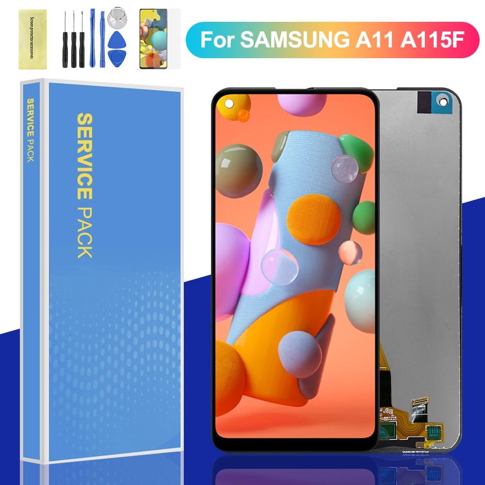 100% original lcd para samsung galaxy a11 lcd screen display toque digitador assembléia para galaxy a11 a115 a115f/ds a115f a115m