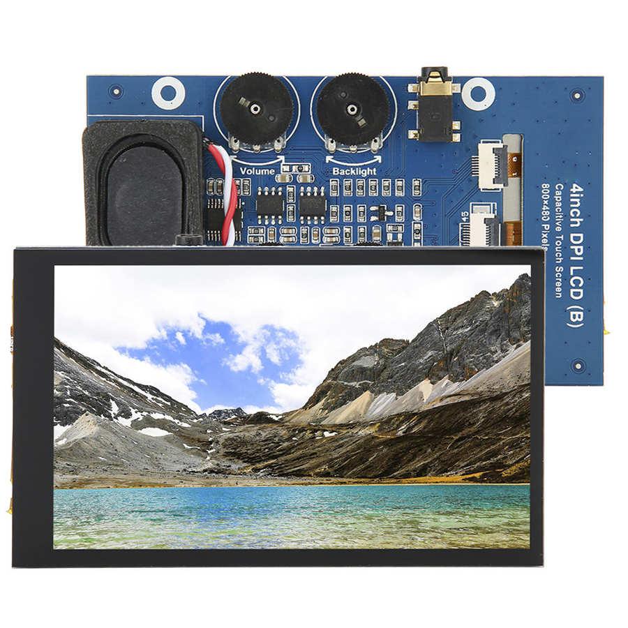 Pantalla táctil de capacitancia de 4 pulgadas interfaz de pantalla LCD DPI para Monitor de pantalla Raspberry Pi