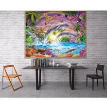 Bricolage 5D coloré hibou brillant arc-en-ciel amour plein diamant peinture point de croix kits art Animal 3D peinture par diamants