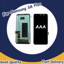 Samsung Galaxy için orijinal LCD S8 artı LCD ekran dokunmatik ekran Digitizer Samsung G955 SM-G955F LCD ekran değiştirme