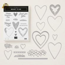 Matrices de découpe en métal et timbres LOVE HERT, pour Scrapbooking, artisanat décoratif de bricolage, gaufrage de cartes en papier, pochoirs, 2020