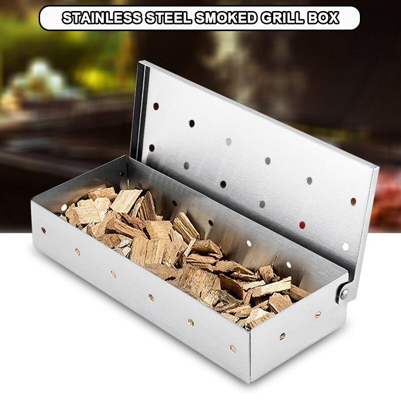 Caja de humo de acero inoxidable lavable y plegable de ahumador de...