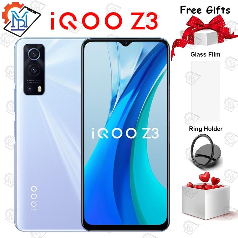 Оригинальный смартфон IQOO Z3 5G 6,58 дюйма, 6 ГБ + 128 Гб, Восьмиядерный Snapdragon 768G, Android 11, 55 Вт, быстрая зарядка, 4400 мАч