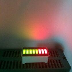 5pcs led bargraph display 8 segmento led números programáveis led sinal barra-gráfico 8 barras cubo telas placa bi-color verde & vermelho 5g3r