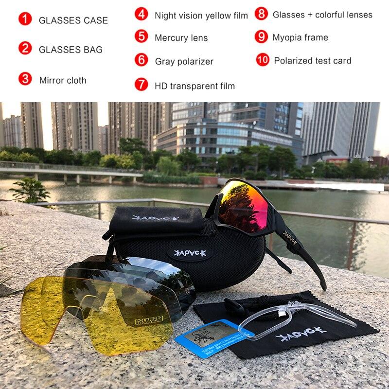 Купить с кэшбэком 2021 Kapvoe Bike Sunglasses Motorcycle Fishing Glasses Cycling MTB Road Eyewear Polarized Bicycle For Men Women Sports Goggles