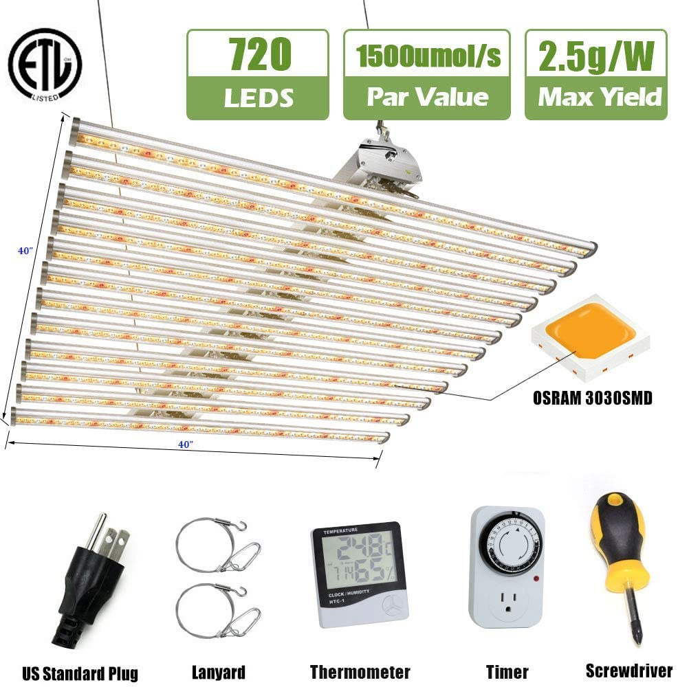 LUXINT 720w Indoor Led Grow Light Equipment with 12 bars Replacing 1000w HPS for Vertical Farming Phytolamp Plants