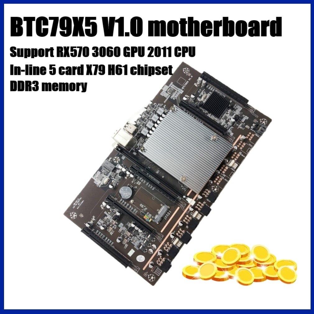 جديد X79 H61 BTC التعدين اللوحة LGA 2011 DDR3 دعم RTX3060 3080 بطاقة جرافيكس يدعم 32 جرام 60 مللي متر الملعب ل BTC التعدين