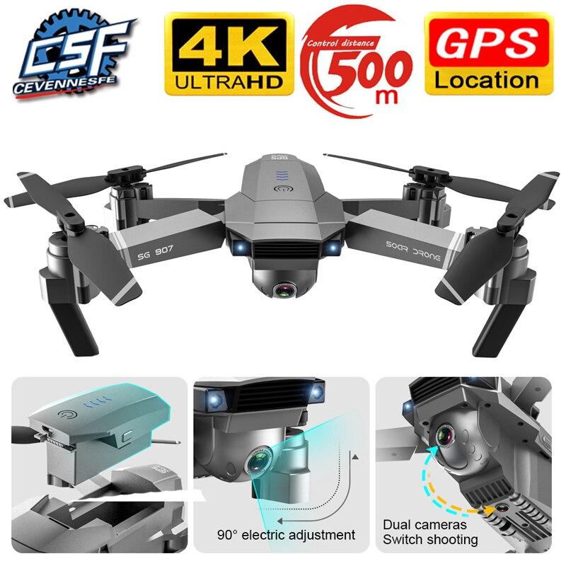 Дрон SG907, gps, камера HD 4k 1080P, 5g, Wi-Fi, двойная камера, электронная, анти-тряска, персонаж, Квадрокоптер, Дрон с камерой