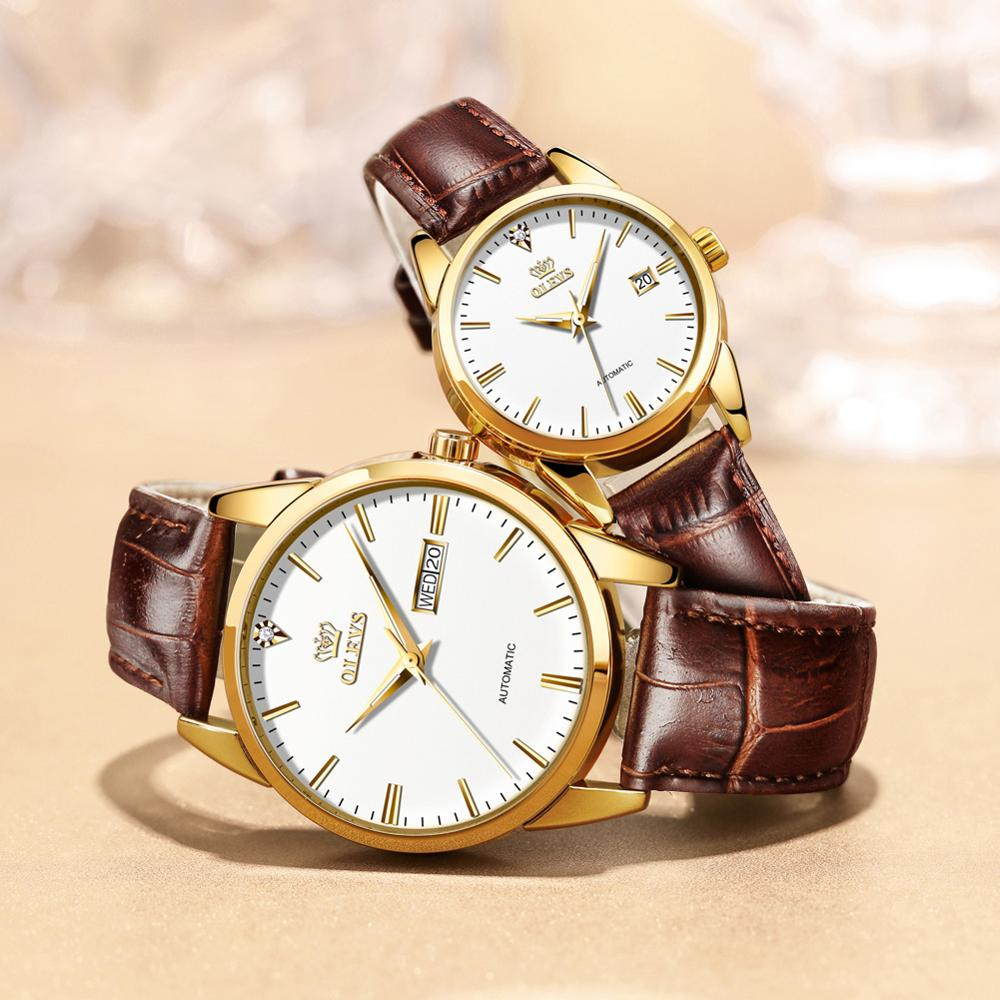 Brand original watch full automatic mechanical watch fashion waterproof men and women lovers watch birthday Valentine's Day gift