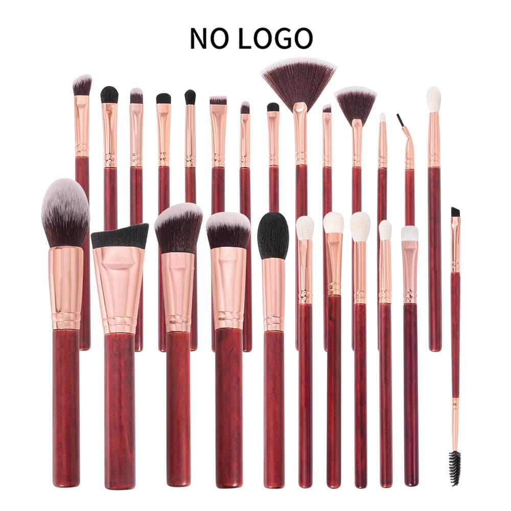 beili conjunto de pinceis para maquiagem 25 pecas vermelho para base contorno destaque