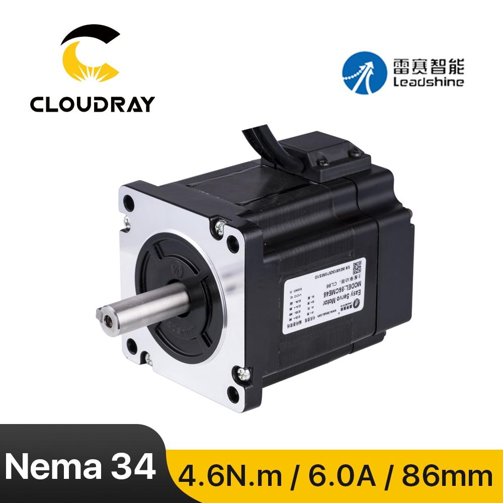 Leadshine-Nema 34 Stepper Motor ، حلقة مغلقة ، 4.6N.m 6.0A ، مع جهاز تشفير (86CME45) ، محرك سيرفو سهل لنقش جهاز التوجيه CNC