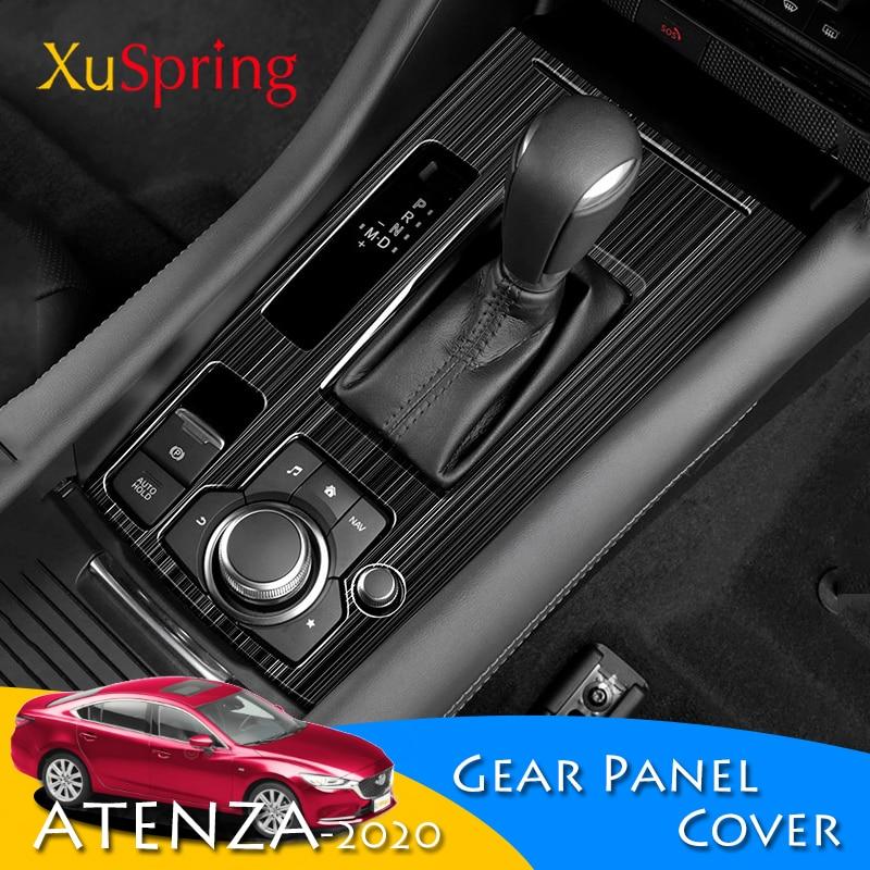 Для Mazda 6 Atenza 2019 2020 LHD консоль коробка передач панель накладка рамка наклейка полоски украшение автомобиля Стайлинг