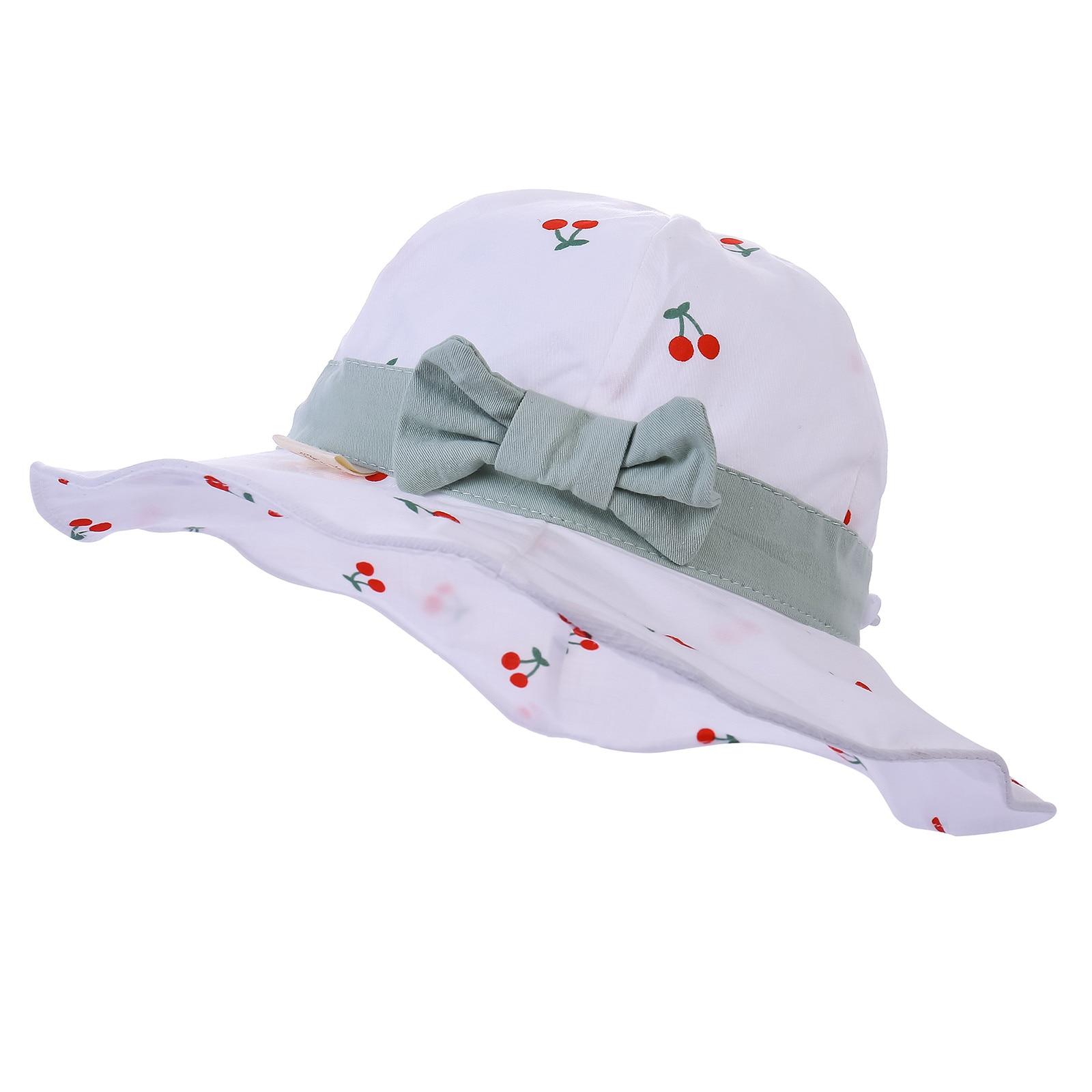 baby cap Toddler Kids Summer Fruit Print Bow Outdoor Children Sun Beach Fisherman's Hat кепка casquette кепка для мальчика