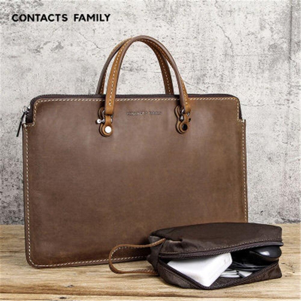 Classic retro Business affairs Leather Laptop Bag For Apple MacBook Pro15 Portable Zipper Notebook Leather Bag For MacBook Pro15