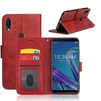 mks flip case for asus zenfone max pro m1 zb602kl cover luxury wallet pu leather phone case with id card slot