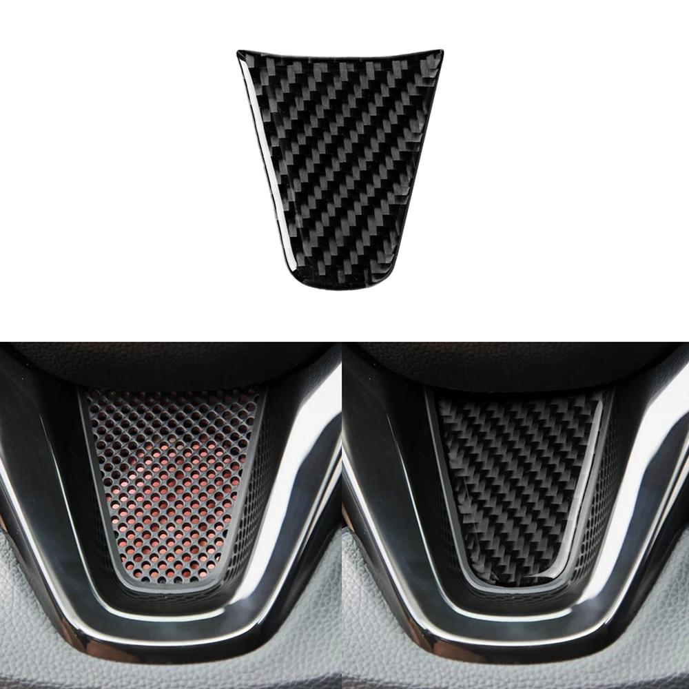 Pegatinas de fibra de carbono para Honda Fit/Jazz GK5 3rd GEN 2014-2018 accesorios para volante de coche